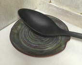 Ceramic Spoon Rest - Northern Lights - Handmade Pottery - Cookwear - Home Decor