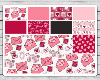Love Letters Bottom Washi and Washi Planner Stickers