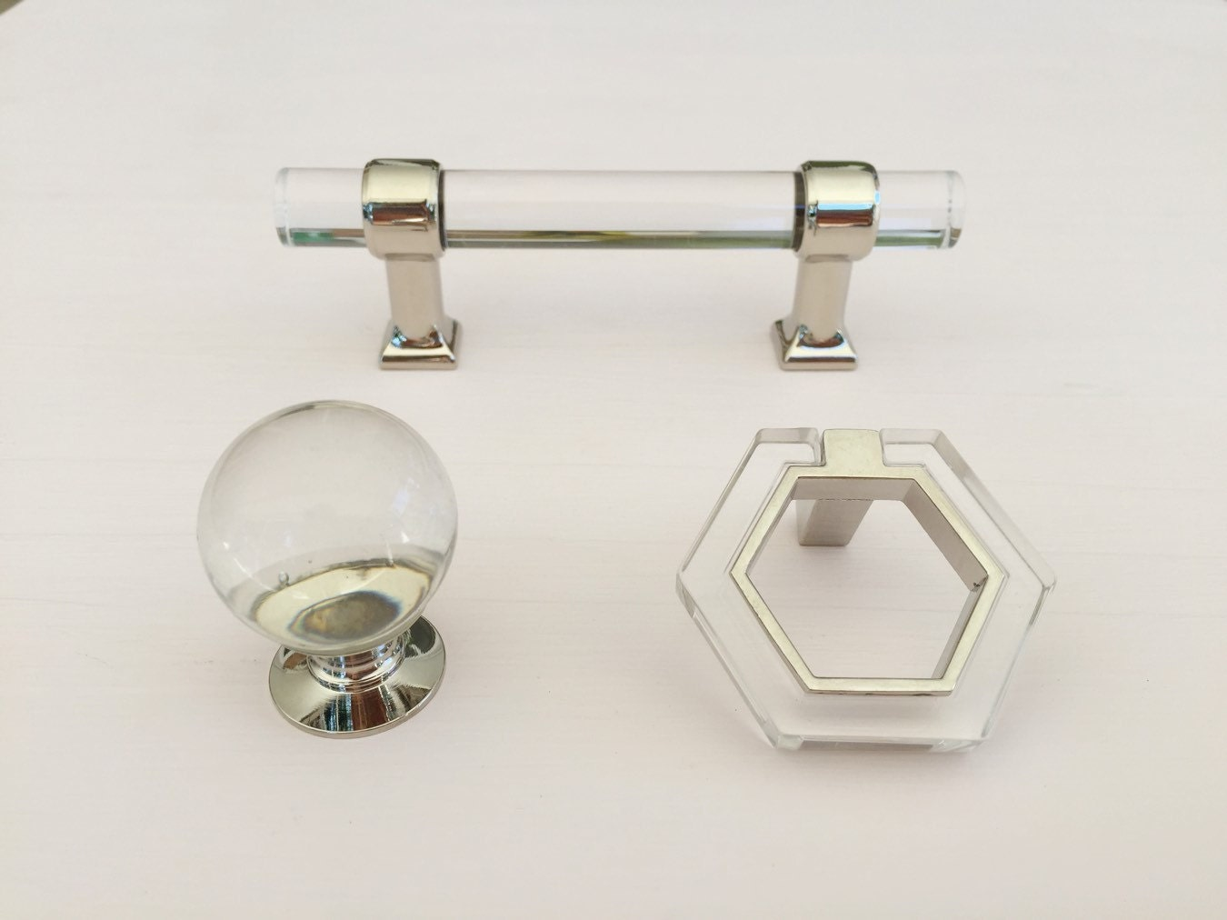 Lucite and Polished Nickel 3\