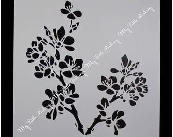 Flower/Blossom stencil for cake & cookie decorating
