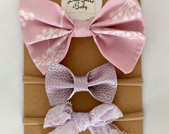 Lilac Love Bow Set