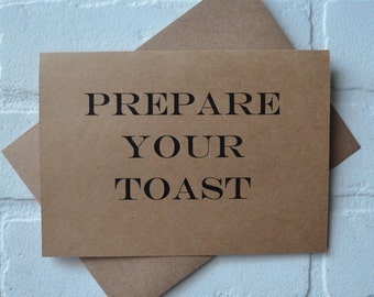 PREPARE your toast will you be my BEST MAN card funny groomsman cards kraft wedding card wedding toast card will you be my groomsman cards