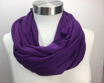 Purple Knit infinity Scarf
