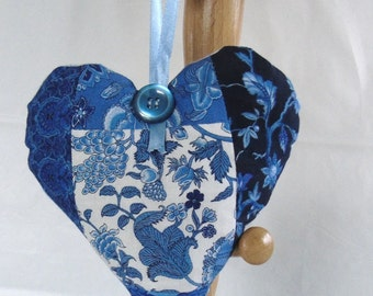 Handmade lavender-filled Hanging Heart Decoration