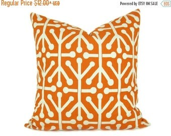 Items Similar To Two Throw Pillow Covers Orange And Beige