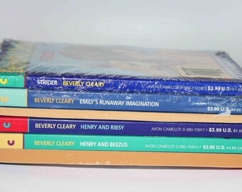 Beverly Cleary Books SEALED Set of 6 Softcover Rare to find Sealed