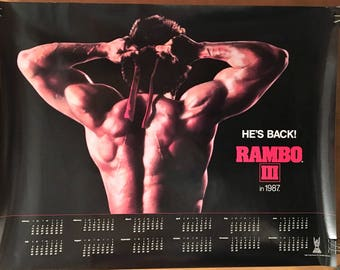 Movie poster, Rambo III poster with Sylvester Stallone