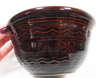 Vintage Marcrest Bowl - Ceramic Mixing Bowl, Daisy Marcrest Bowl, Kitchen Mixing Bowl, Cottage Chic Mixing Bowl, Baking Batter Bowl