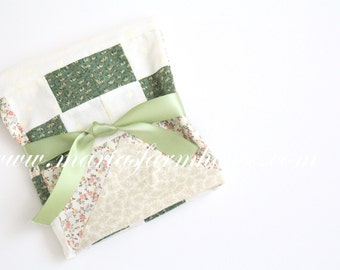 Vintage Quilt Patchwork Pillow Top, Unfinished Quilt Block, Pillow Cover, Handmade by Maria, 100% Cotton