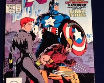 vintage 1990 uncanny x-men #268 marvel comic book  jim lee wolverine captain america vf+