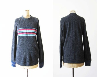Commes des Garcons Striped Pullover Sweater / Rainbow Sweater / Alpaca Knit Sweater