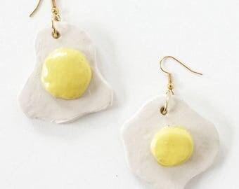 Egg ceramic earings