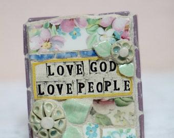 Love God Love People, mosaic art