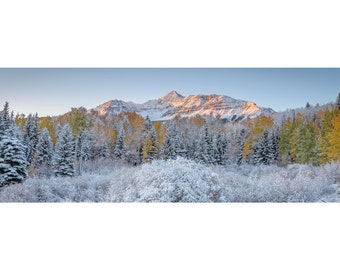 Colorado Landscape 1:3 Wide Panoramic Photography Print - Wilson Peak Telluride - Autumn Fall - Rocky Mountain - 8x24 12x36 16x48 20x60