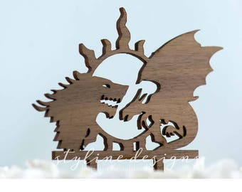 Game of Throne Cake Topper - Event Wedding Cake Topper - Lasercut Cake Topper