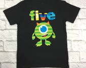 Mike Monster Birthday Shirt with Name and Age