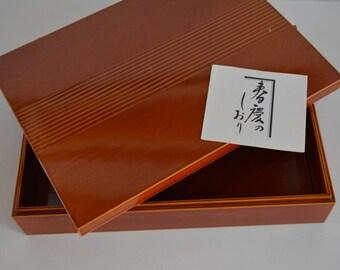 Hida Takayama urushi lacquerware box, Japanese Shunkei nuri box