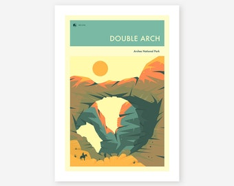 ARCHES NATIONAL PARK (Giclée Fine Art Print, Photo Print or Poster Print) 'Double Arch' by Jazzberry Blue