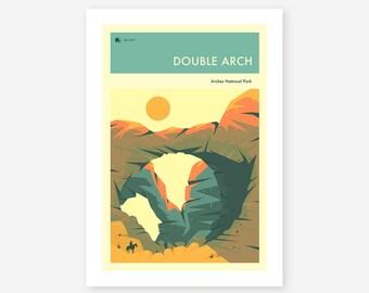 ARCHES NATIONAL PARK (Giclée Fine Art Print/Photo Print/Poster Print) 'Double Arch' by Jazzberry Blue
