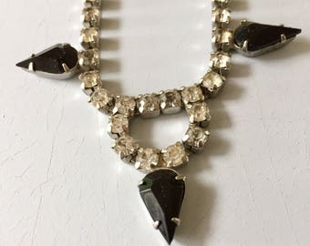 Vintage Onyx Rhinestone necklace