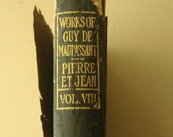 1923 The Works of Guy de Maupassant Volume VIII Pierre et Jean and other Stories Illustrated Relics of the Past The Spasm