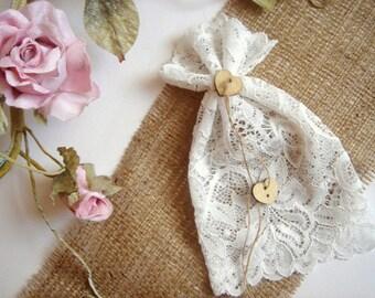 Lace Favor Bags 15, Christening Lace Favor Bags,