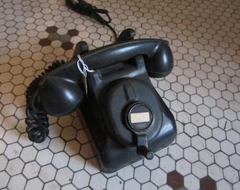VINTAGE PHONE, vintage hand crank phone, old phone