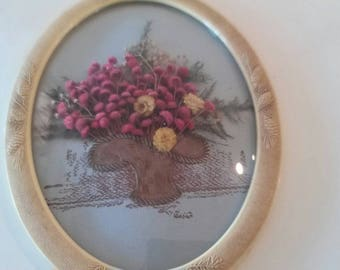 Convex Floral Picture Wall Hanging