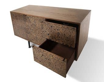 Sideboard Ramona. Rustic Furniture. Midcentury Modern. Handmade furniture. Scandinavian Design.