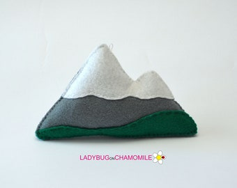 Felt MOUNTAINS, stuffed felt Mountain magnet or ornament, Mountain toy, Nursery decor,Mountain magnet, Home decor,Mountain, Nature