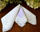 Vintage Assorted Handkerchiefs, Lot of Three 3459