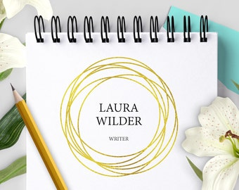 Premade Gold Circle Logo Design | Customized for your Business | Professional Affordable Shop Branding & Graphic Design