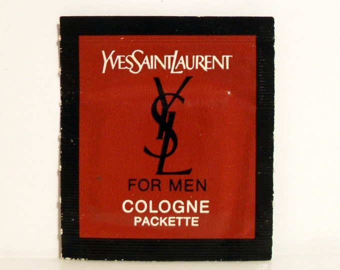Vintage 1970s YSL Yves Saint Laurent for Men Cologne Towelette Sample Packette