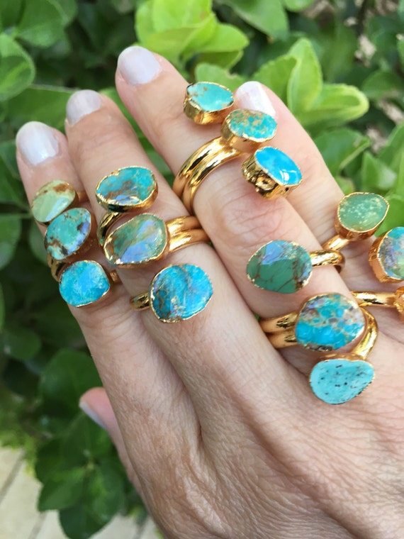 Turquoise Rings, Turquoise Jewelry, Boho style, December birthstone, December birthday