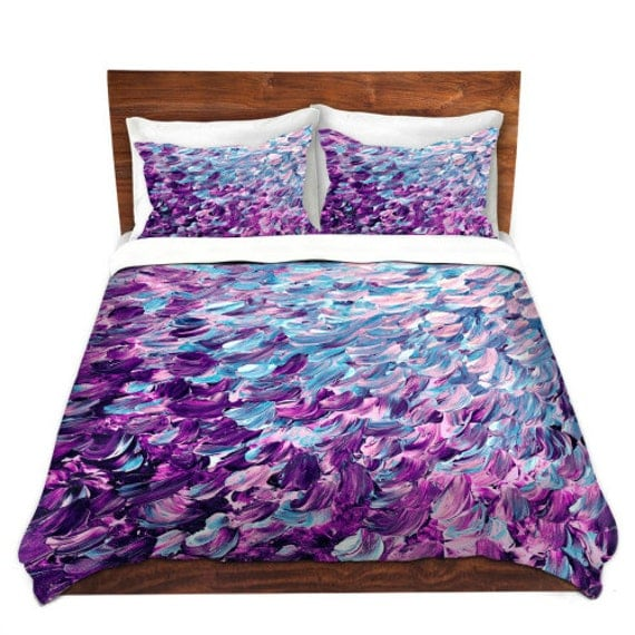 Items Similar To FROSTED FEATHERS Turquoise Blue Purple