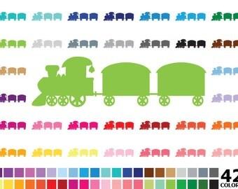 70% OFF SALE Rainbow Steam Train Clipart - Digital Vector Steam Train, Transport Clipart, Rainbow Steam Train Clip Art for Personal and