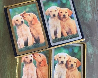 Dog Playing Cards / Vintage Dog Congress Playing Cards / Labrador Dogs Playing Cards 2 Decks