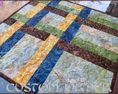 Quilted Table Topper Earthy Batik 706