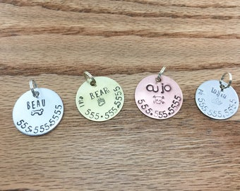 Dog Tag for Collar Custom Pet Id Tag Pet Tag Dog Collar Dog Tag for Dog Personalized Tag Stainless Steel Dog Tag Custom Pet Tag Brass Copper