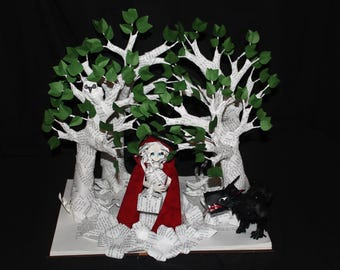 Little Red Riding Hood Book Sculpture