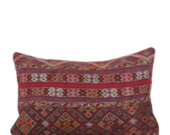 "18"" x 28"" Pillow Cover Kilim Pillow Vintage Kilim Pillow Hand Embroidered Pillow FAST SHIPMENT with ups or fedex - 10856"