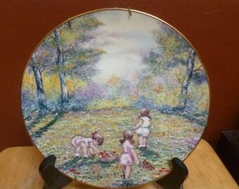 1977 Dominic Mingolla art plate Picking Flowers Calhoun's