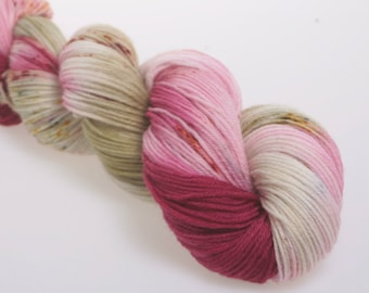 Hand Dyed Yarn 'Cheering with you' -  Hand dyed Wool Yarn, Wool Yarn 4 ply   DK