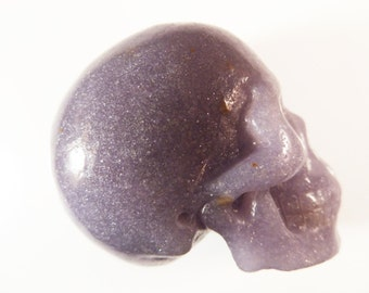 Lilac Lepidolite Skull 2 Inch 97g Super Realistic Carved Crystal Stone Meditation Intuition Scrying Gemstone Lavender RARE