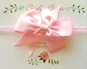 Light Pink Baby Bow Headband, Baby Headbands, Infant Headbands, Baby Girl Headbands, Infant Bow, Baby Bow, Girl Bow,Girl Headbands