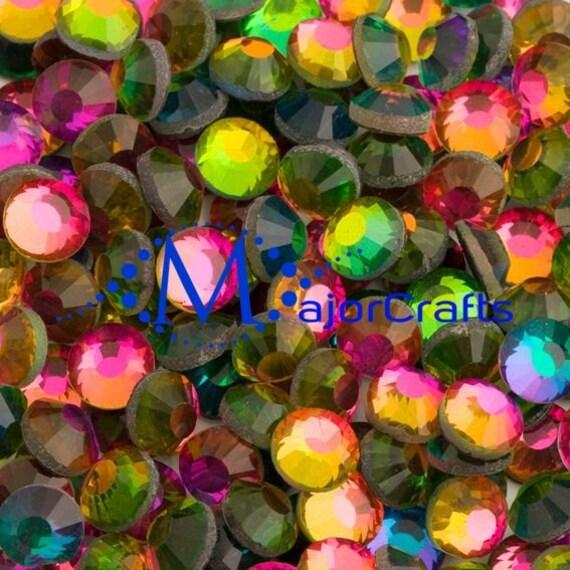 Rainbow Flat Back DMC A+ Quality Glass Cut Hotfix Diamante Rhinestones C28