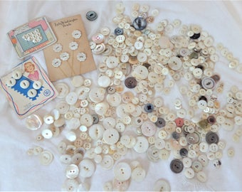 Vintage Mother of Pearl Button Lot