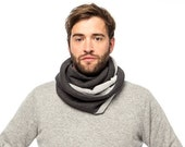 Mens scarf, winter scarf, infinity scarf, mens winter scarf, Valentine's Gift