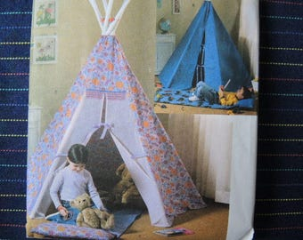 2004 sewing pattern Butterick 4251 Tepee tent and mat UNCUT