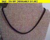 Black mesh choker necklace, vintage necklace, estate jewelry